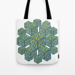 Cubed Mazes Tote Bag