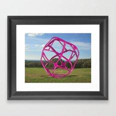 Purple Sphere - Sculpture Implants Series Framed Art Print