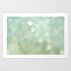 Bokeh Series - Sea Foam Art Print
