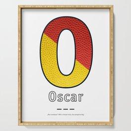 Oscar - Navy Code Serving Tray