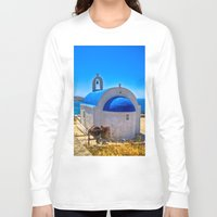 greece Long Sleeve T-shirts featuring Mykonos, Greece by 33bc