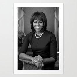 Michelle Obama Official Portrait - 2013 Art Print