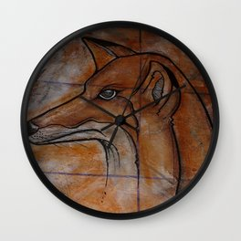 Fox. Wall Clock