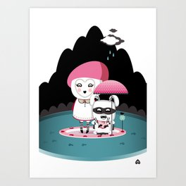 Super Tofu Boy and Sweet Sweet Tofu Art Print