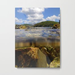 Over and Under the Water Metal Print