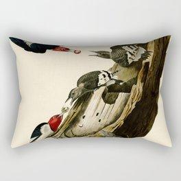 Red Headed Woodpecker Rectangular Pillow