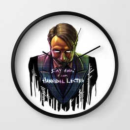 Famous Last Words Wall Clock