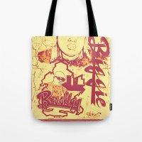 biggie Tote Bags featuring BIGGIE by DaeSyne Artworks