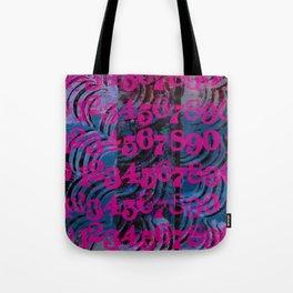 Magenta Numbers Tote Bag