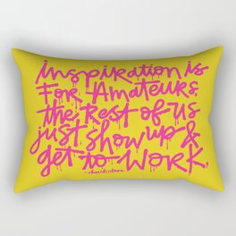 Inspiration is for amateurs x typography Rectangular Pillow