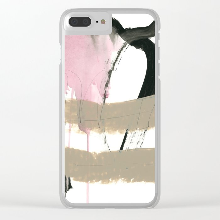 abstract painting XII Clear iPhone Case