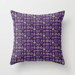 Ernst Haeckel Ascidiae Sea Squirts in Purple Throw Pillow
