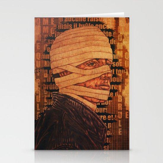 The Burn Man still in love Stationery Cards