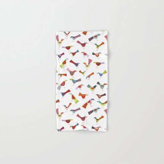 Birds doing bird things Hand & Bath Towel