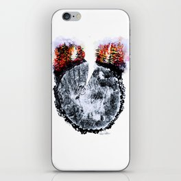 Burning Forest iPhone Skin