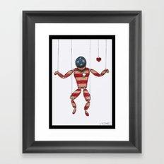 American Puppet Framed Art Print