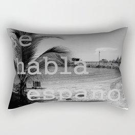 se habla español en la playa (speak Spanish at the beach) Rectangular Pillow
