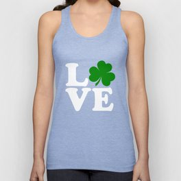 Love with Irish shamrock Unisex Tank Top