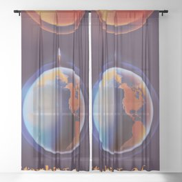 Starship to Mars Sheer Curtain