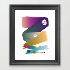 Enough Be Grateful  Framed Art Print