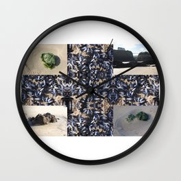 Cornwall Mussels and other Low Tide Beach Photo Composite Newquay Cornwall Wall Clock