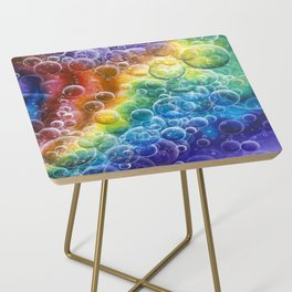 Rainbow of Impact Bubbles Side Table