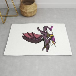 Magical Unicorn Riding Dragon Rug