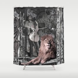 Listening the music. African Invasion. Shower Curtain