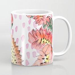 Orange Cacti Flowers Coffee Mug