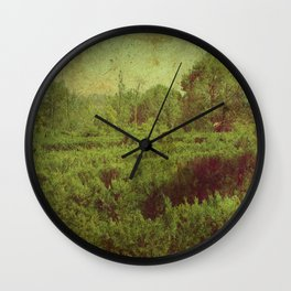vintage romantic old landscape photography Wall Clock