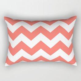 Coral Chevron Rectangular Pillow