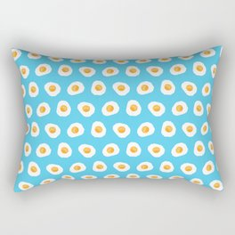 Crazy for fried eggs blue Rectangular Pillow