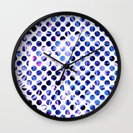 Fluid Dot (Blue Version) Wall Clock