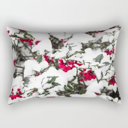 SNOW COVERED HOLLY Rectangular Pillow