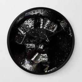 Black Tricone Drill Bit Wall Clock