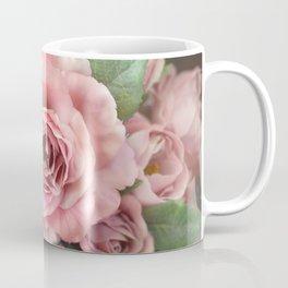 Roses Pink Peach Romantic Rose Flowers Gardening Decor Coffee Mug