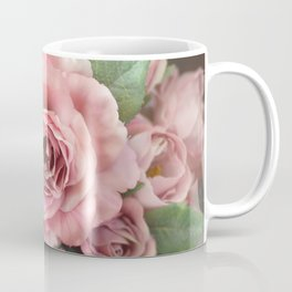 Roses Pink Peach Romantic Rose Flowers Gardening Decor Coffee Mug