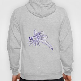 Dragonfly Flying Drawing Side Hoody