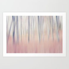 Pastel Woods Art Print