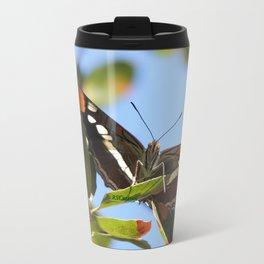 California Sister Butterfly on Oak Leaves Travel Mug