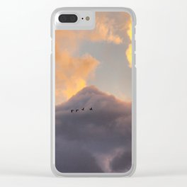 high flying birds Clear iPhone Case