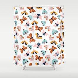 Moths & Butterflies Pattern Shower Curtain