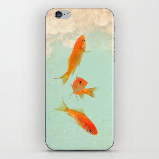 Goldfish in the sky iPhone & iPod Skin