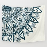 mandala Wall Tapestries featuring Mandala by rskinner1122