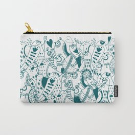 Simple bird doodle Carry-All Pouch