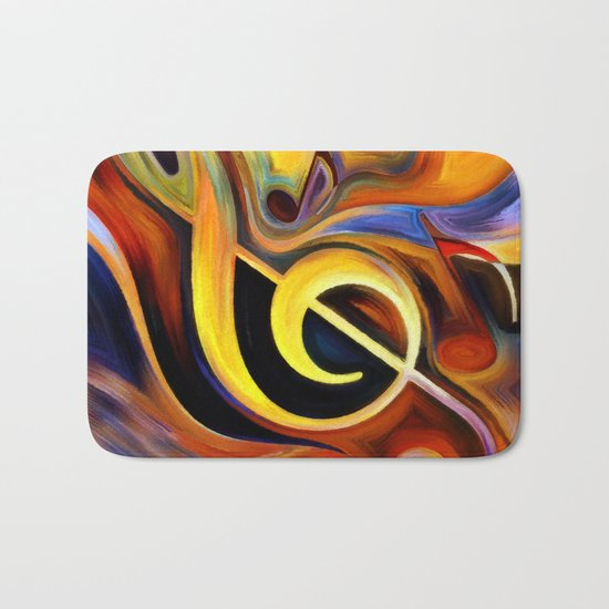 music, painting Bath Mat