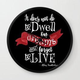 Dwell on Dreams - Black Wall Clock