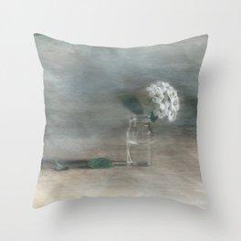 Spirea in vial art Throw Pillow