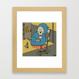 Reapin' Skatin' Chillin' Framed Art Print