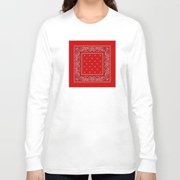 Paisley - Bandana - Red - Southwestern - Boho Long Sleeve T-shirt